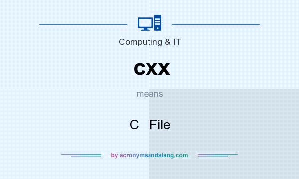 What does cxx mean? It stands for C   File