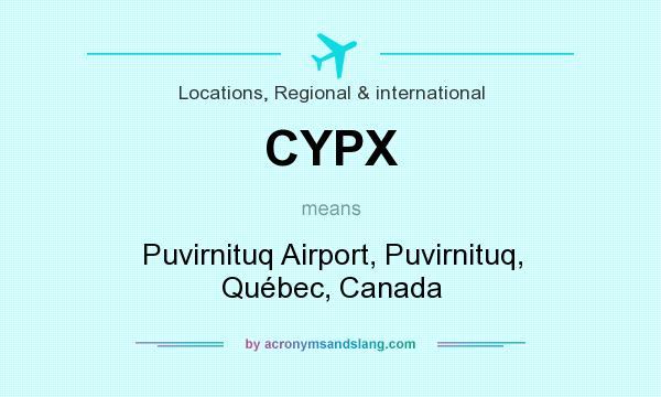 What does CYPX mean? It stands for Puvirnituq Airport, Puvirnituq, Québec, Canada