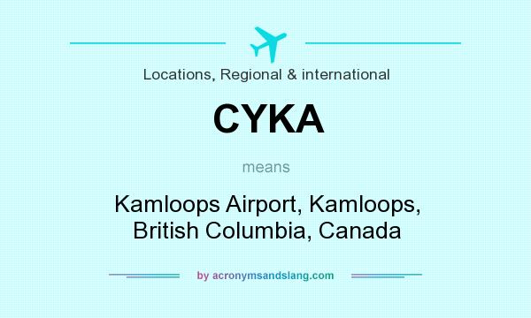 What does CYKA mean? It stands for Kamloops Airport, Kamloops, British Columbia, Canada