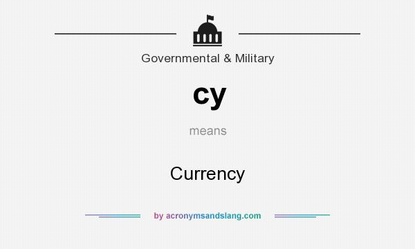 What does cy mean? It stands for Currency