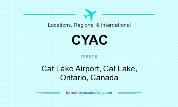 What does CYAC mean? It stands for Cat Lake Airport, Cat Lake, Ontario, Canada