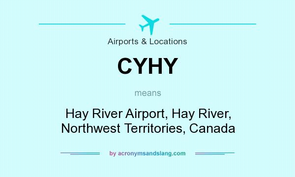 What does CYHY mean? It stands for Hay River Airport, Hay River, Northwest Territories, Canada