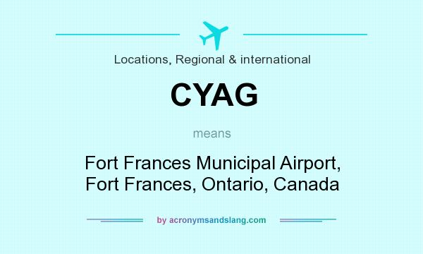What does CYAG mean? It stands for Fort Frances Municipal Airport, Fort Frances, Ontario, Canada