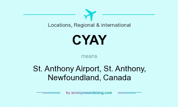 What does CYAY mean? It stands for St. Anthony Airport, St. Anthony, Newfoundland, Canada