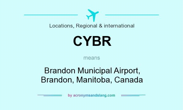 What does CYBR mean? It stands for Brandon Municipal Airport, Brandon, Manitoba, Canada