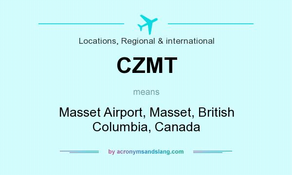 What does CZMT mean? It stands for Masset Airport, Masset, British Columbia, Canada