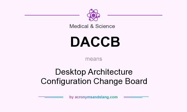 What does DACCB mean? It stands for Desktop Architecture Configuration Change Board