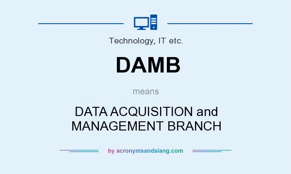 What does DAMB mean? It stands for DATA ACQUISITION and MANAGEMENT BRANCH