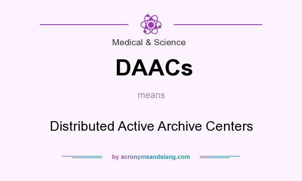 What does DAACs mean? It stands for Distributed Active Archive Centers