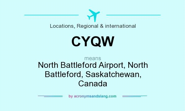 What does CYQW mean? It stands for North Battleford Airport, North Battleford, Saskatchewan, Canada