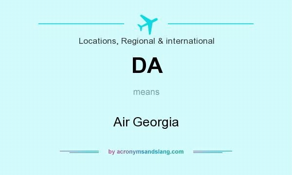 What does DA mean? It stands for Air Georgia