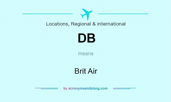What does DB mean? It stands for Brit Air