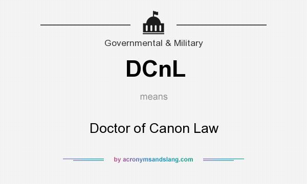What does DCnL mean? It stands for Doctor of Canon Law