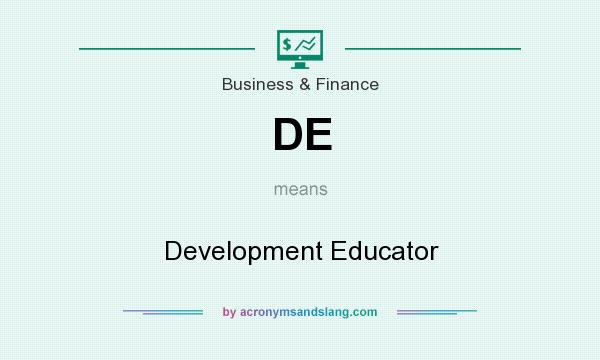 What does DE mean? It stands for Development Educator