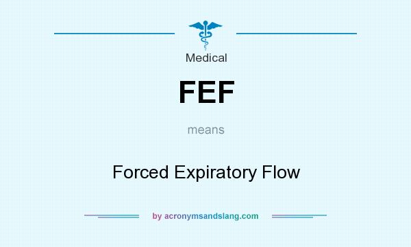What does FEF mean? It stands for Forced Expiratory Flow
