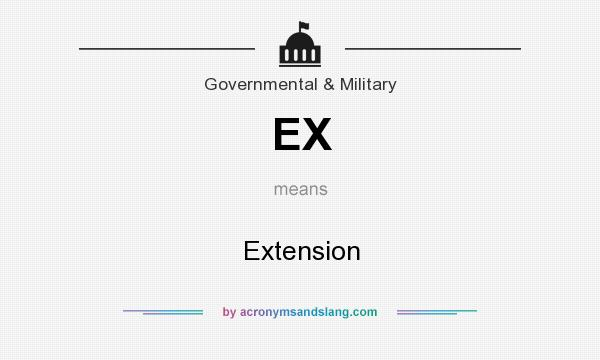 What does EX mean? It stands for Extension