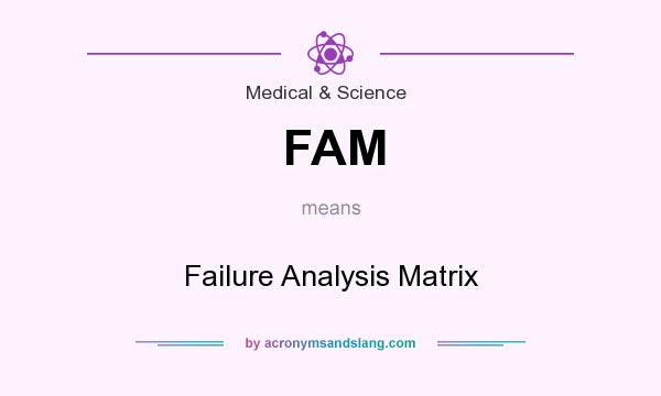 What does FAM mean? It stands for Failure Analysis Matrix