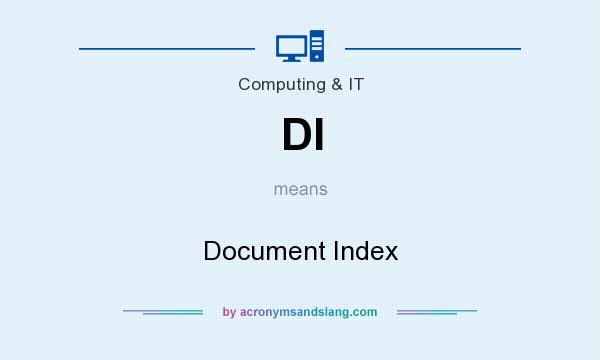 What does DI mean? It stands for Document Index