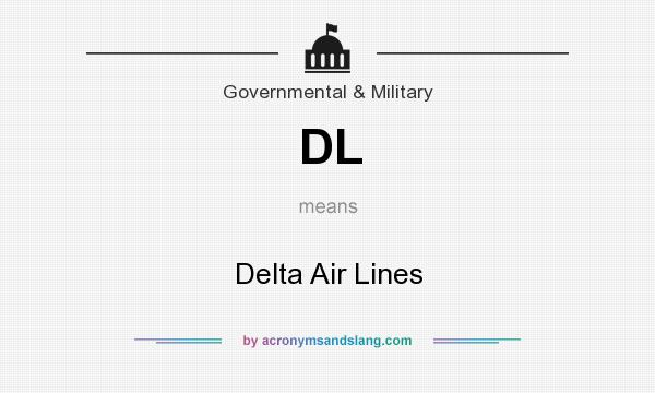 What does DL mean? It stands for Delta Air Lines