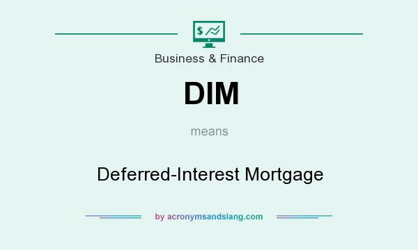 What does DIM mean? It stands for Deferred-Interest Mortgage