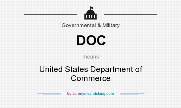 What does DOC mean? It stands for United States Department of Commerce