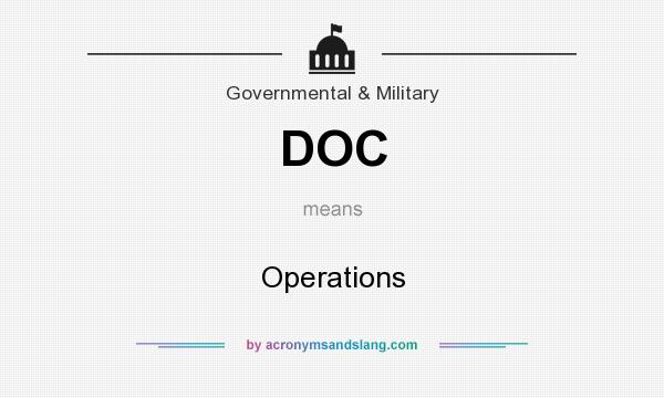 What does DOC mean? It stands for Operations