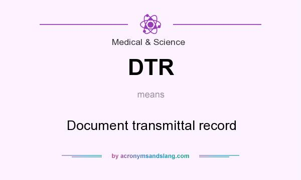 Meaning of dtr