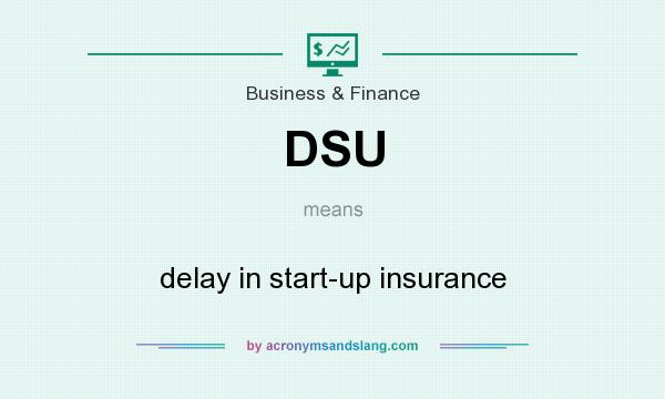 What does DSU mean? It stands for delay in start-up insurance