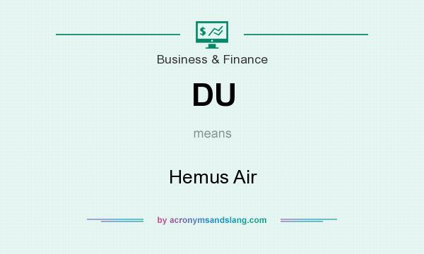 What does DU mean? It stands for Hemus Air