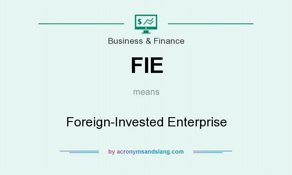 What does FIE mean? It stands for Foreign-Invested Enterprise