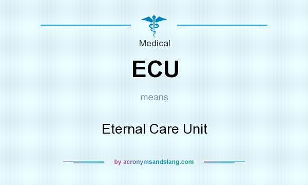 What does ECU mean? It stands for Eternal Care Unit