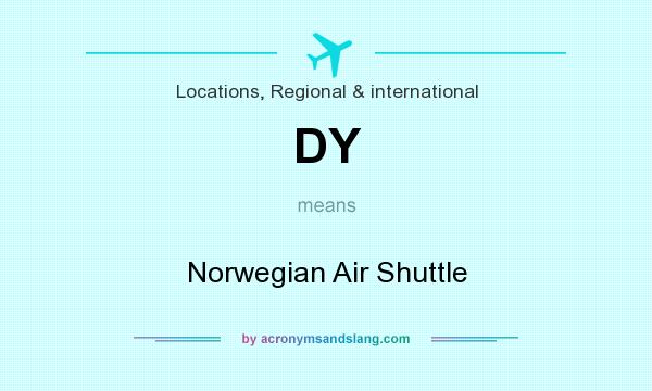 What does DY mean? It stands for Norwegian Air Shuttle