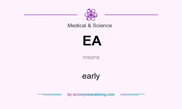What does EA mean? It stands for early