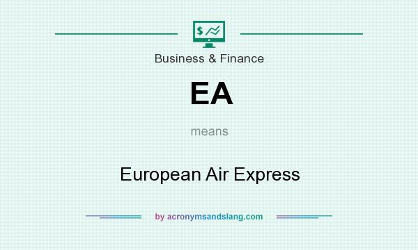 What does EA mean? It stands for European Air Express