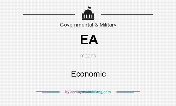 What does EA mean? It stands for Economic