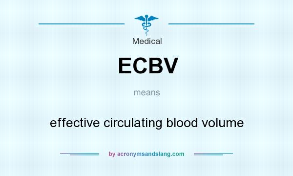 What does ECBV mean? It stands for effective circulating blood volume