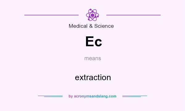 What does Ec mean? It stands for extraction