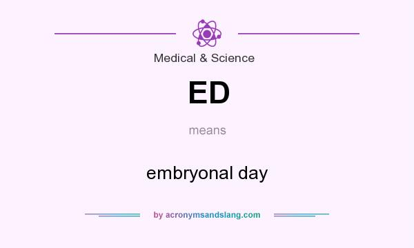 What does ED mean? It stands for embryonal day