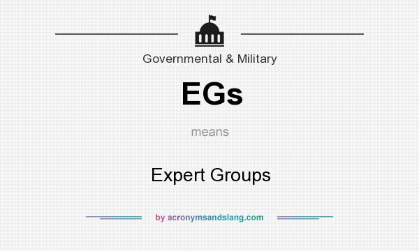 What does EGs mean? It stands for Expert Groups