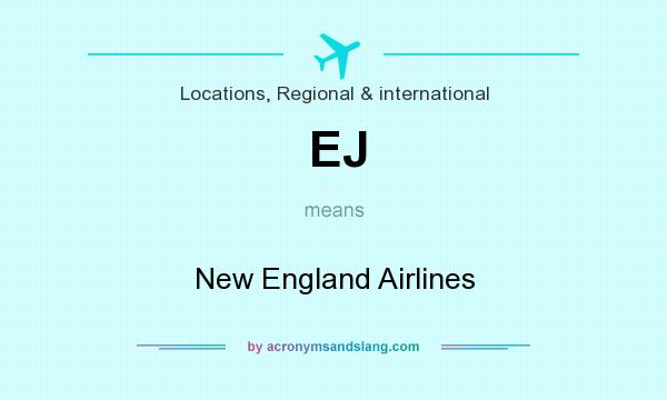 What does EJ mean? It stands for New England Airlines