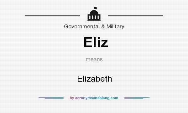 What does Eliz mean? It stands for Elizabeth