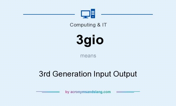 What does 3gio mean? It stands for 3rd Generation Input Output