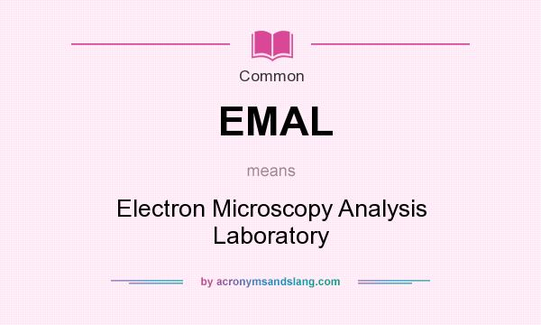What does EMAL mean? It stands for Electron Microscopy Analysis Laboratory