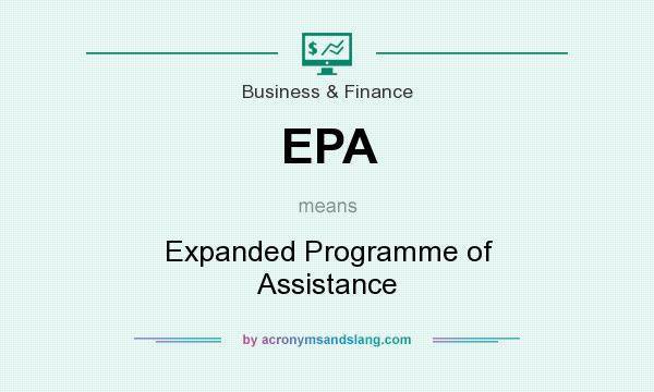 What does EPA mean? It stands for Expanded Programme of Assistance
