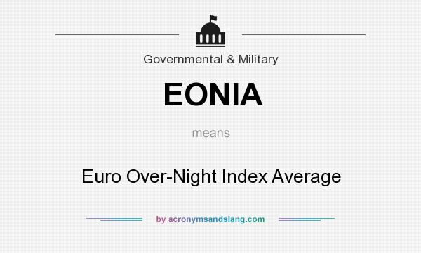 What does EONIA mean? It stands for Euro Over-Night Index Average