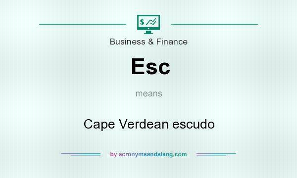 What does Esc mean? It stands for Cape Verdean escudo