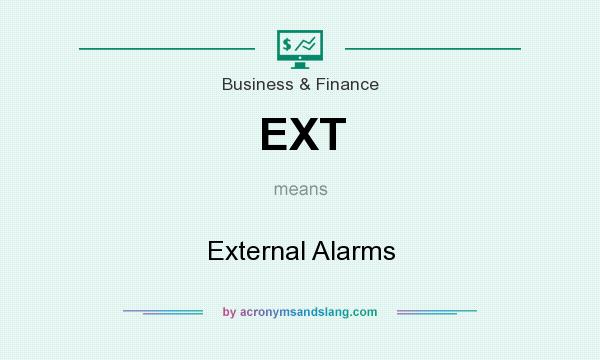 What does EXT mean? It stands for External Alarms