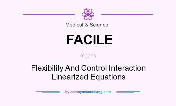 What does FACILE mean? It stands for Flexibility And Control Interaction Linearized Equations