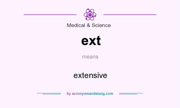 What does ext mean? It stands for extensive