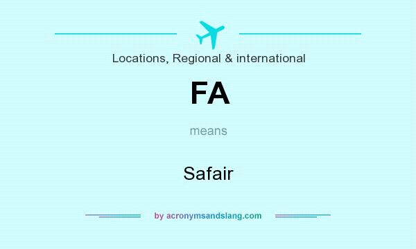 What does FA mean? It stands for Safair